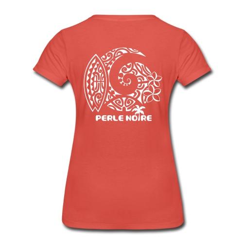 T-Shirt Femme rouge pastel - Perle Noire - T-shirt Premium Femme