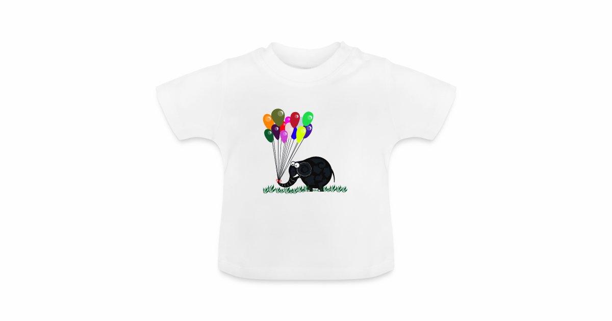 fotomontagen tshirts  elefant mit luftballon  baby tshirt