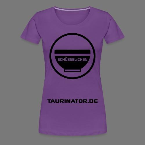 Schüssel-chen Premium T-Shirt Frauen - beidseitig bedruckt - Frauen Premium T-Shirt