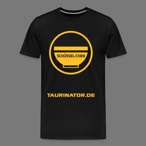 Schüssel-chen Premium T-Shirt - beidseitig bedruckt - Männer Premium T-Shirt