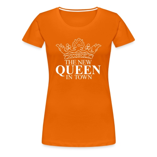Vrouwen koningsdagshirt The new Queen in town - Vrouwen Premium T-shirt