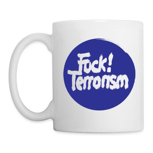 FUCK TERRORISM BLUE - CUP - Tasse