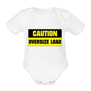 Caution Over load  - Organic Short-sleeved Baby Bodysuit