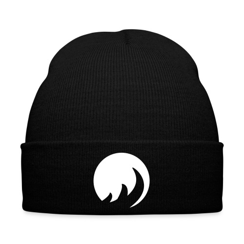 Mens Black & White Winter Cap with image - Winter Hat