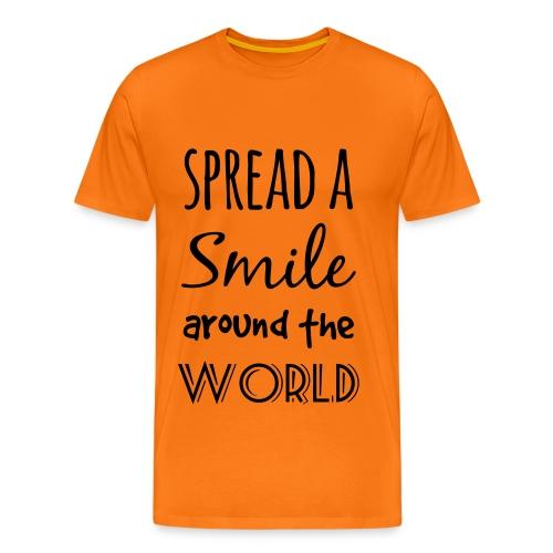 Spread a Smile Herren Baumwoll-Shirt - Männer Premium T-Shirt