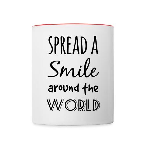 Spread a Smile Tasse - Tasse zweifarbig