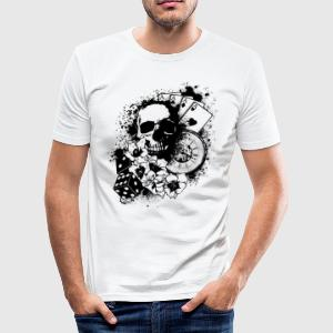 Skullplayer - Männer Slim Fit T-Shirt