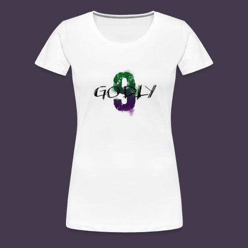 godlyNiNE Logo Lila/Grün Girlz - Frauen Premium T-Shirt