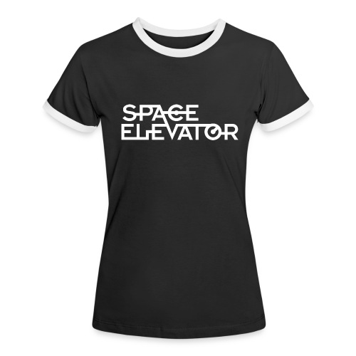 Space Elevator T-Shirt. (female) with trim. - Women's Ringer T-Shirt