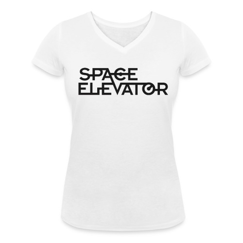 Space Elevator T-Shirt (female) with v.neck. - Women's Organic V-Neck T-Shirt by Stanley & Stella