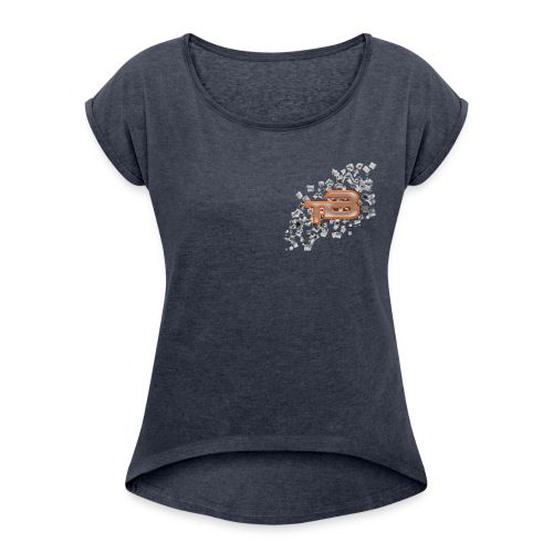 The BodyCell V Sport B - Women's T-Shirt with rolled up sleeves