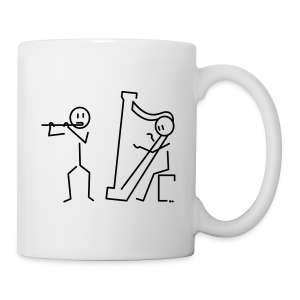 Duo flute / harp [single-sided] - Mug