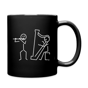 Duo flute / harp [double-sided] - Full Colour Mug