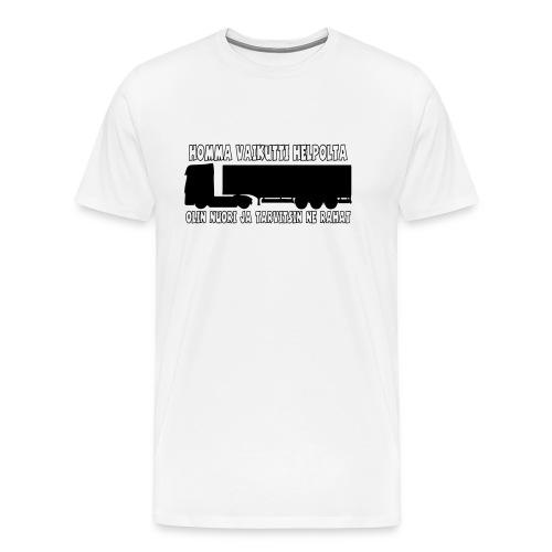 Homma vaikutti helpolta - Miesten premium t-paita