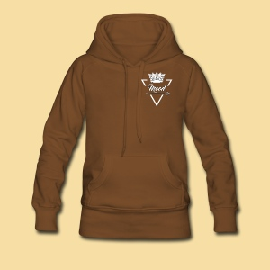 Sweat à capuche marron  mood triangle femme - Sweat-shirt à capuche Premium pour femmes