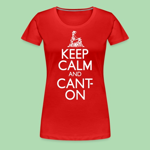 CantOn: Adult Fitted/White Print - Women's Premium T-Shirt