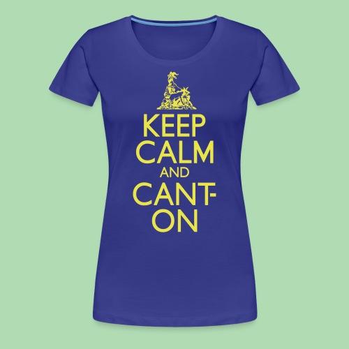 CantOn: Adult Fitted/Cream Print - Women's Premium T-Shirt