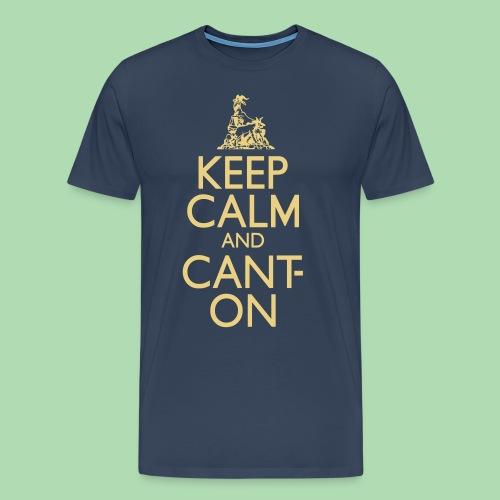 CantOn: Adult Loose/Cream Print - Men's Premium T-Shirt