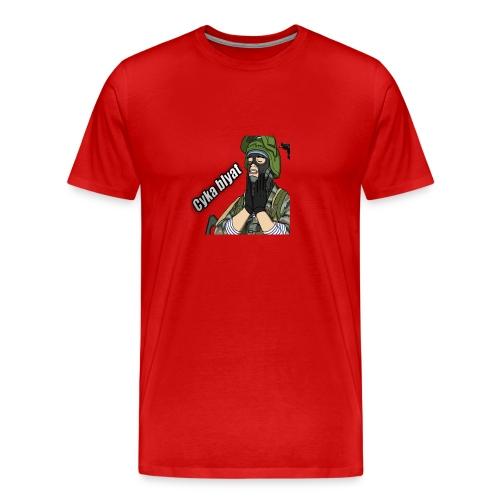 CSGOAPPAREL- Cyka Blyat Rage | RED - Men's Premium T-Shirt