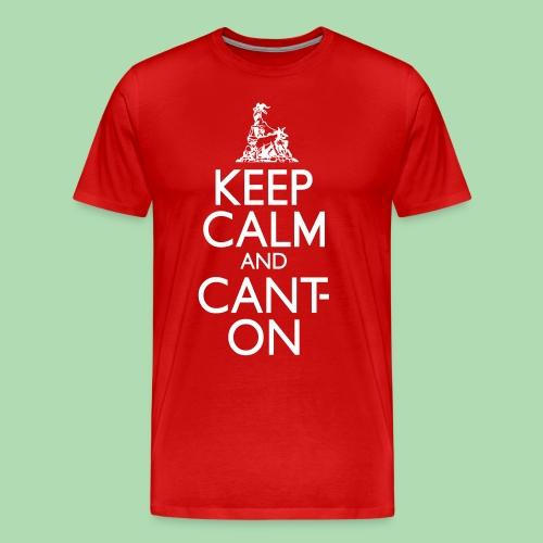 CantOn: Adult Loose/White Print - Men's Premium T-Shirt