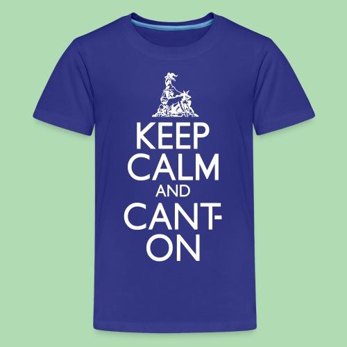 CantOn: Teen/White Print - Teenage Premium T-Shirt