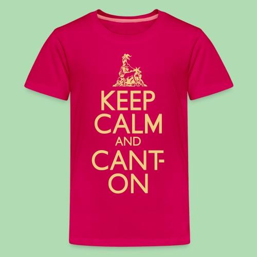 CantOn: Teen/Cream Print - Teenage Premium T-Shirt