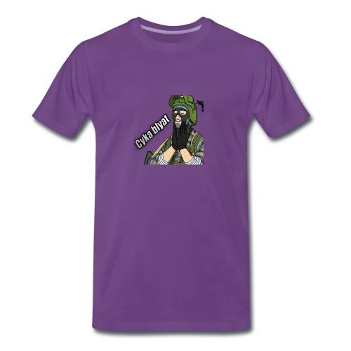 CSGOAPPAREL- Cyka Blyat Rage | PURPLE - Men's Premium T-Shirt