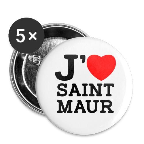 5 badges 36mm J'aime Saint-Maur - Badge grand 56 mm