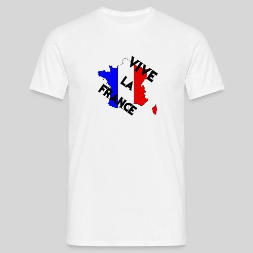 Vive la France carte - T-shirt Homme