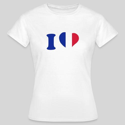 I Love France - T-shirt Femme