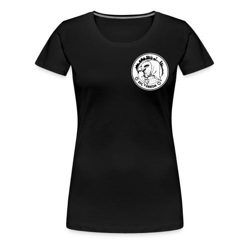 Tailliertes Shirt, vorne Logo rund klein - Frauen Premium T-Shirt