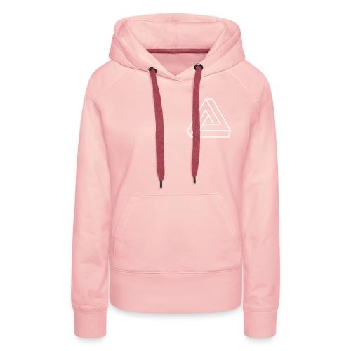 Sweat shirt à capuche Triangle - Sweat-shirt à capuche Premium pour femmes