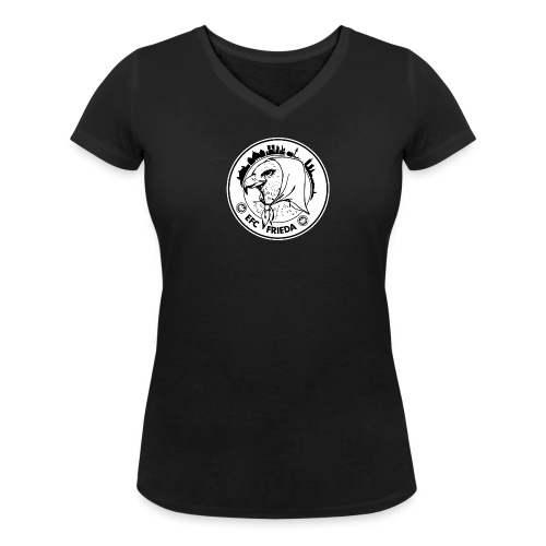 Shirt mit V-Ausschnitt, rundes Logo groß vorne - Frauen Bio-T-Shirt mit V-Ausschnitt von Stanley & Stella