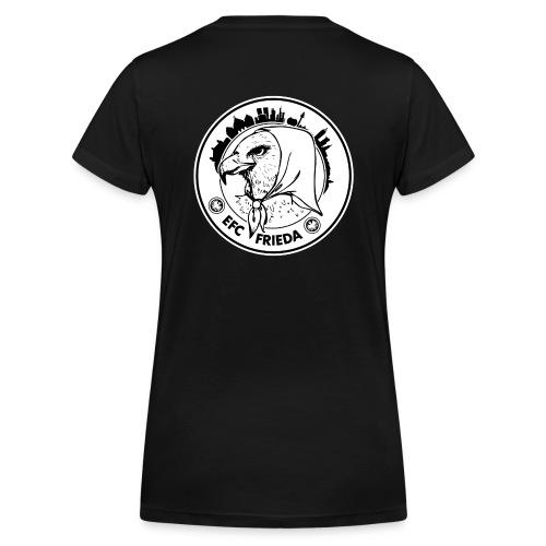 Shirt mit V-Ausschnitt, vorne Logo Adler klein, hinten Logo rund groß - Frauen Bio-T-Shirt mit V-Ausschnitt von Stanley & Stella