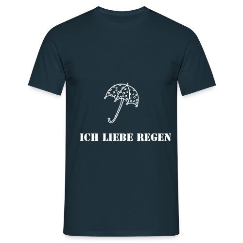 Ich liebe Regen - Männer T-Shirt