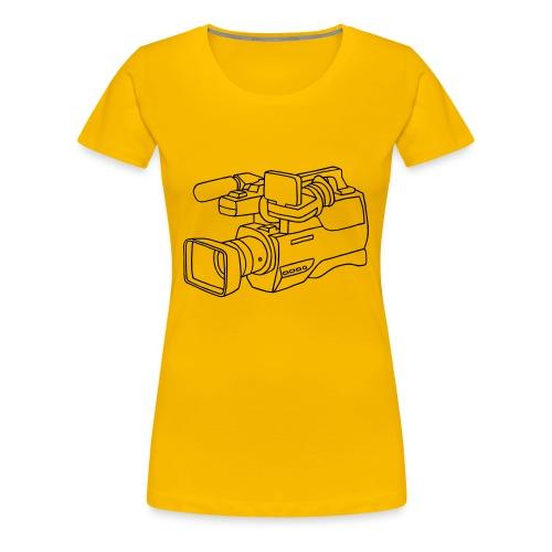 Videokamera - Frauen Premium T-Shirt