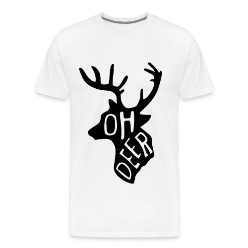 MEN T-SHIRT OH DEER - Mannen Premium T-shirt