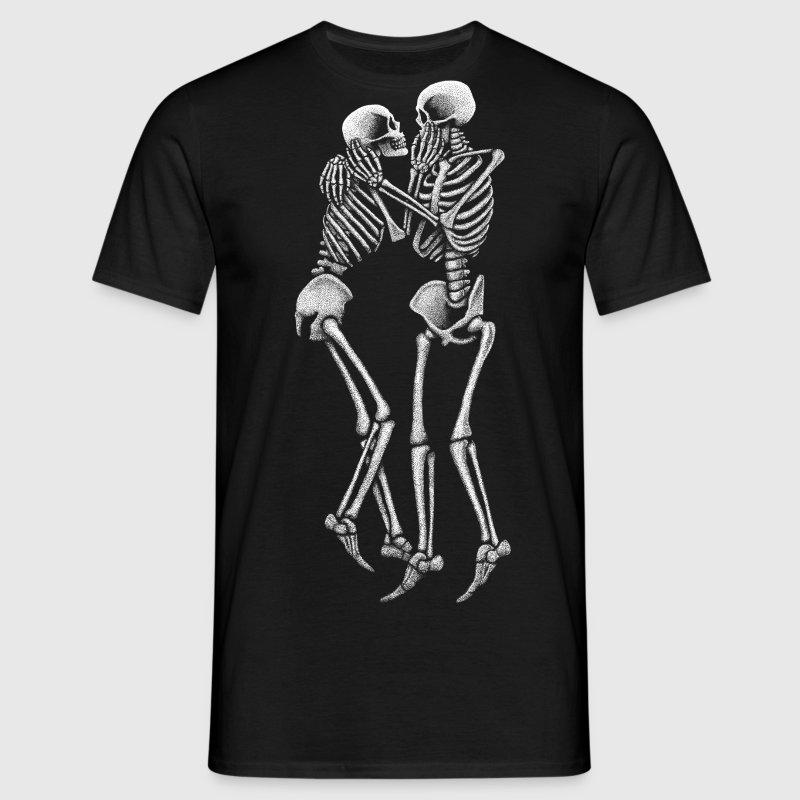 V neck black t shirts for men