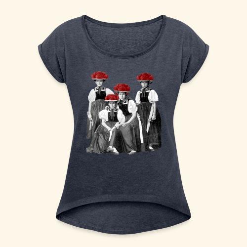 Schwarzwald Damen - Frauen T-Shirt mit gerollten Ärmeln
