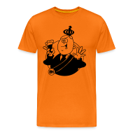 T-shirts ~ Mannen Premium T-shirt ~ Wimlex cartoon T-shirt met pilsje