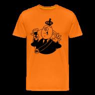 T-shirts ~ Mannen Premium T-shirt ~ Wimlex cartoon T-shirt met pilsje