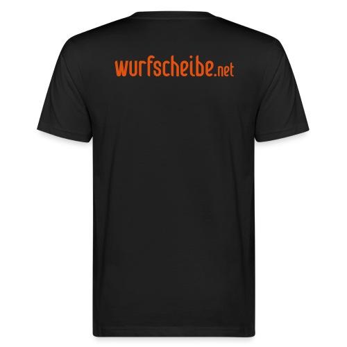 T-Shirt Schriftzug - wurfscheibe.net - Männer Bio-T-Shirt
