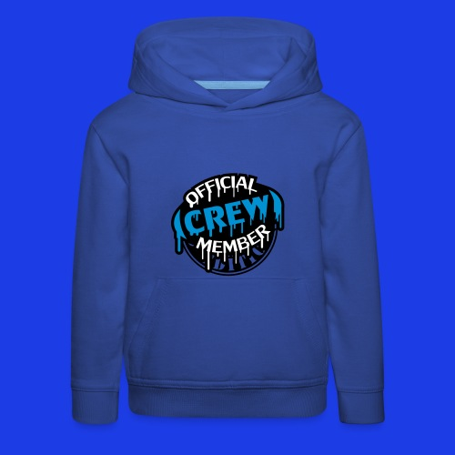 Official Crew Member Blue Over The Head Hoodie - Kids' Premium Hoodie