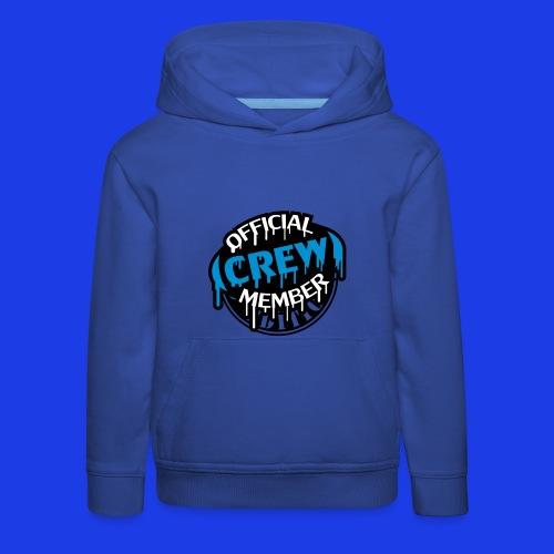 Official Crew Member Blue Over The Head Hoodie - Kids' Premium Hoodie