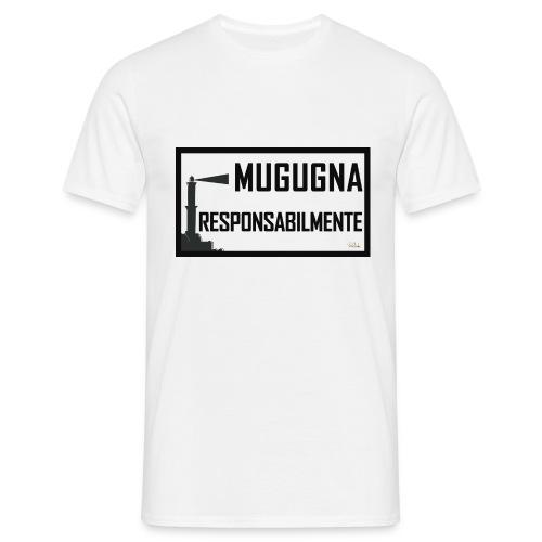 Tshirt Uomo Bianca Mugugna Responsabilmente - Maglietta da uomo
