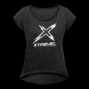 XtriME Big Logo - GIRLS - Frauen T-Shirt mit gerollten Ärmeln