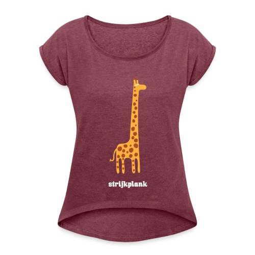 Strijkplank vrouwen opgerolde mouwen - Vrouwen T-shirt met opgerolde mouwen