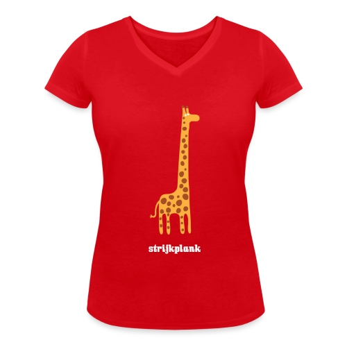 Strijkplank vrouwen v-hals bio - Vrouwen bio T-shirt met V-hals van Stanley & Stella