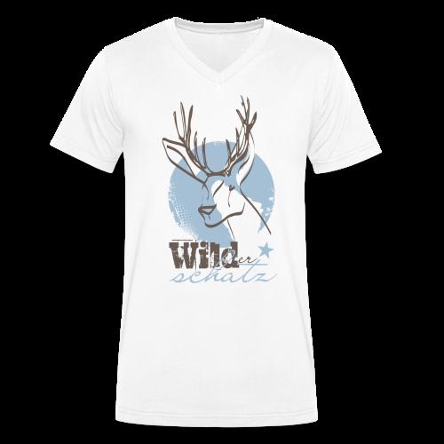 Wilder Schatz Vergissmeinnicht - Männer Bio-T-Shirt mit V-Ausschnitt von Stanley & Stella