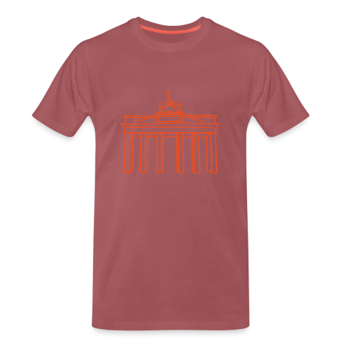 Berlin, Brandenburger Tor (neon-orange) - Männer Premium T-Shirt